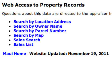 access to public real property records
