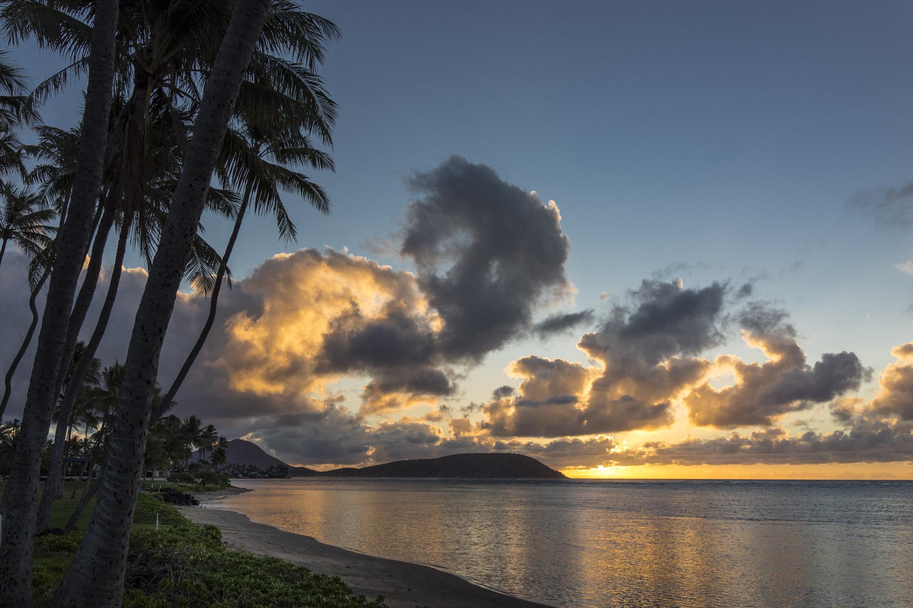 On the beach in Kahala, Honolulu, Hawaii