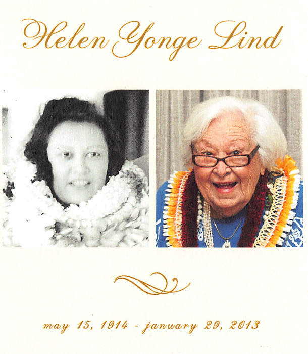 Helen Yonge Lind